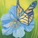 Blue Poppy & Monarch